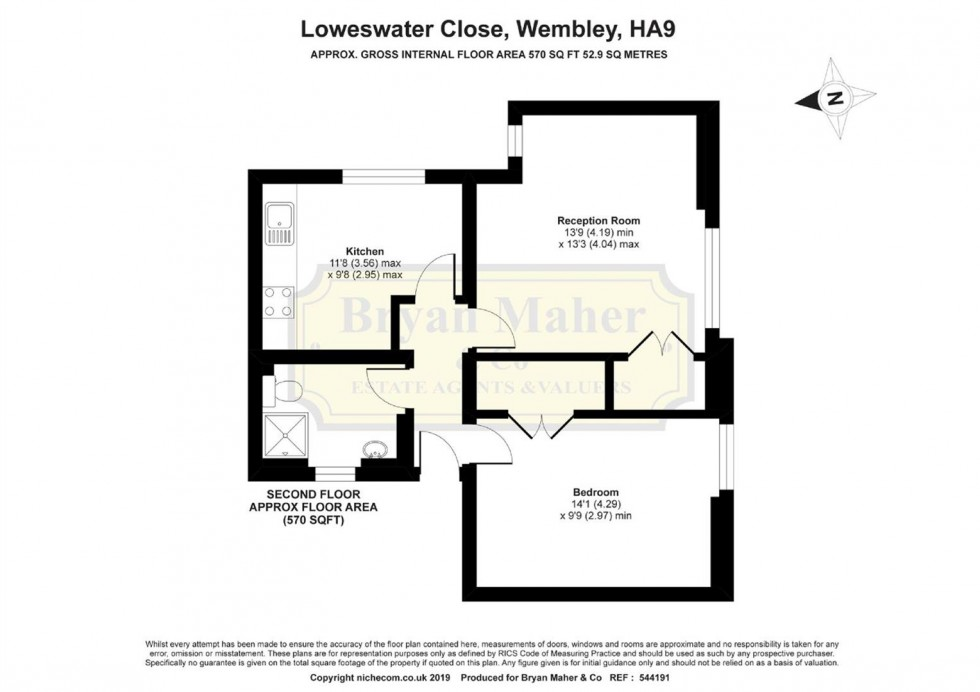 Floorplan for 5 Loweswater Close, WEMBLEY