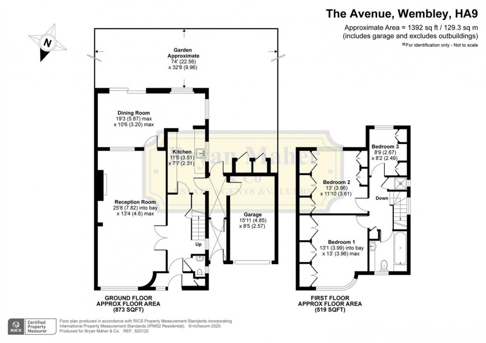 Floorplan for The Avenue, WEMBLEY